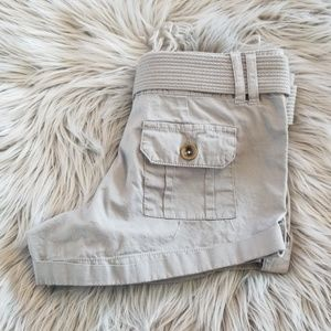 Gray (grey) Dollhouse shorts with matching belt